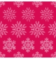 Red Lace Christmas Snowflakes Geometric Textile vector image