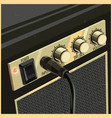 retro guitar amplifier vector image