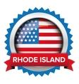 Rhode Island and USA flag badge vector image vector image