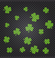 saint patrick s day pattern with green clover vector image vector image