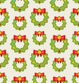 Seamless Pattern with Christmas Wreathes vector image