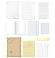 set blank sheets of paper for design vector image vector image