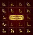 set golden calligraphic decorative corners vector image vector image