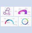 set minimal infographic templates 4 vector image vector image