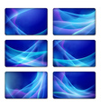 Set of backgrounds template for gift vector image vector image