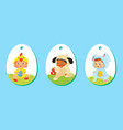 set of easter price tags gift labels for kids vector image vector image