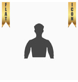 Silhouette man flat icon vector image vector image