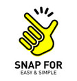 snap logo and icon for easy and simple vector image vector image