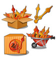 supply components and spare parts for the vector image vector image