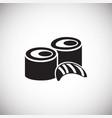 sushi set on white background vector image