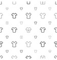 t-shirt icons pattern seamless white background vector image vector image