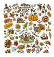 thanksgiving day hand drawn sketch for your vector image vector image