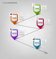 Time line info graphic with colored design vector image vector image