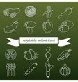 vegetableoutline vector image vector image