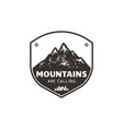 vintage hand drawn mountains emblem the great vector image vector image