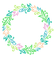 vintage round frame color vector image vector image
