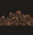 vintage seamless hop pattern a decoration vector image vector image
