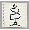 Wood sign board - cartoon doodle vector image vector image