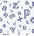Alphabet Seamless Background vector image