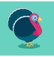funny cartoon turkey vector image