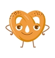 Soft Pretzel with Poppy-Seed Fresh Tasty Snack vector image