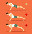 right and wrong plank vector image