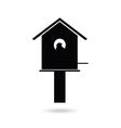 birdhouses black vector image