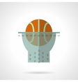 Basketball hoop flat color design icon vector image