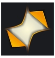 3D blank template ajar box vector image vector image