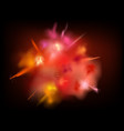 abstract powder splatted background red powder vector image vector image