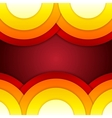 Abstract red orange and yellow round shapes vector image