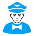 airline steward flat icon vector image