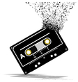 Audio cassette-Music vector image vector image