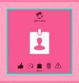 badge symbol icon vector image vector image