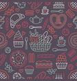 bakery seamless pattern food background