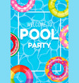 banner poster invitation to pool party vector image vector image