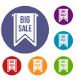 big sale banner icons set vector image vector image