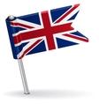 British pin icon flag vector image