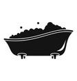 bubblebath bathtube icon simple style vector image vector image