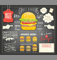 burger menu template placemat vector image vector image