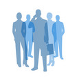 business people transparent symbol vector image vector image