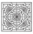 byzantine square panel is a bas-relief design vector image vector image