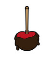 Candy covered apple icon imag vector image