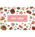 cartoon sweets colorful concept vector image