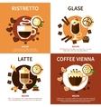 Coffee 2x2 Design Concept vector image vector image
