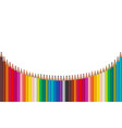 color pencils located arc on a white background vector image vector image