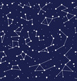 constellation seamless background pattern zodiac vector image
