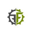 creative letter f square logo template logo vector image vector image