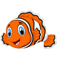 Cute clown fish cartoon posing vector image