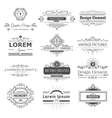 Design logo and monograms vector image vector image